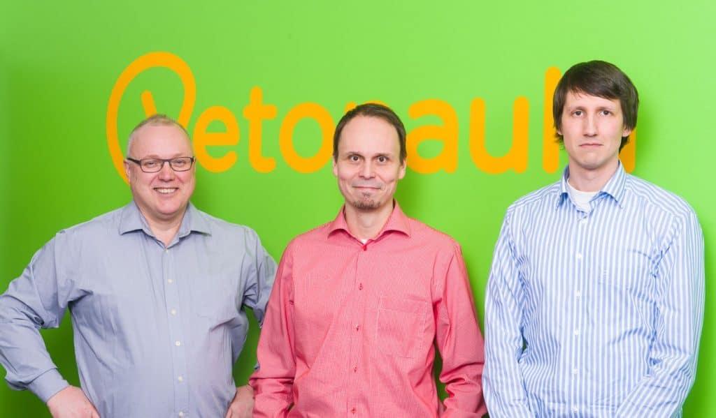 Asiakkaan IT-managerina Vetonaulassa toimivat Lasse Kataja, Tomi Lehto, Juuso Eskola ja Jari Halonen (ei kuvassa)