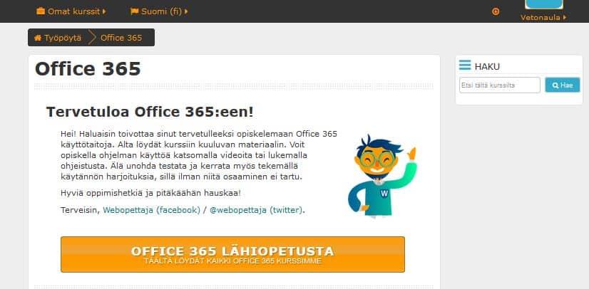 Itseoppimisympäristö Vetonaulan IT-palvelussa