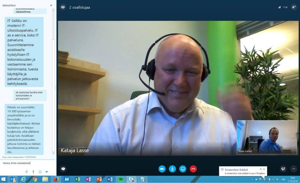 Skype for Business lisää tiimityötä ja kommunikointia asiakkaiden kanssa